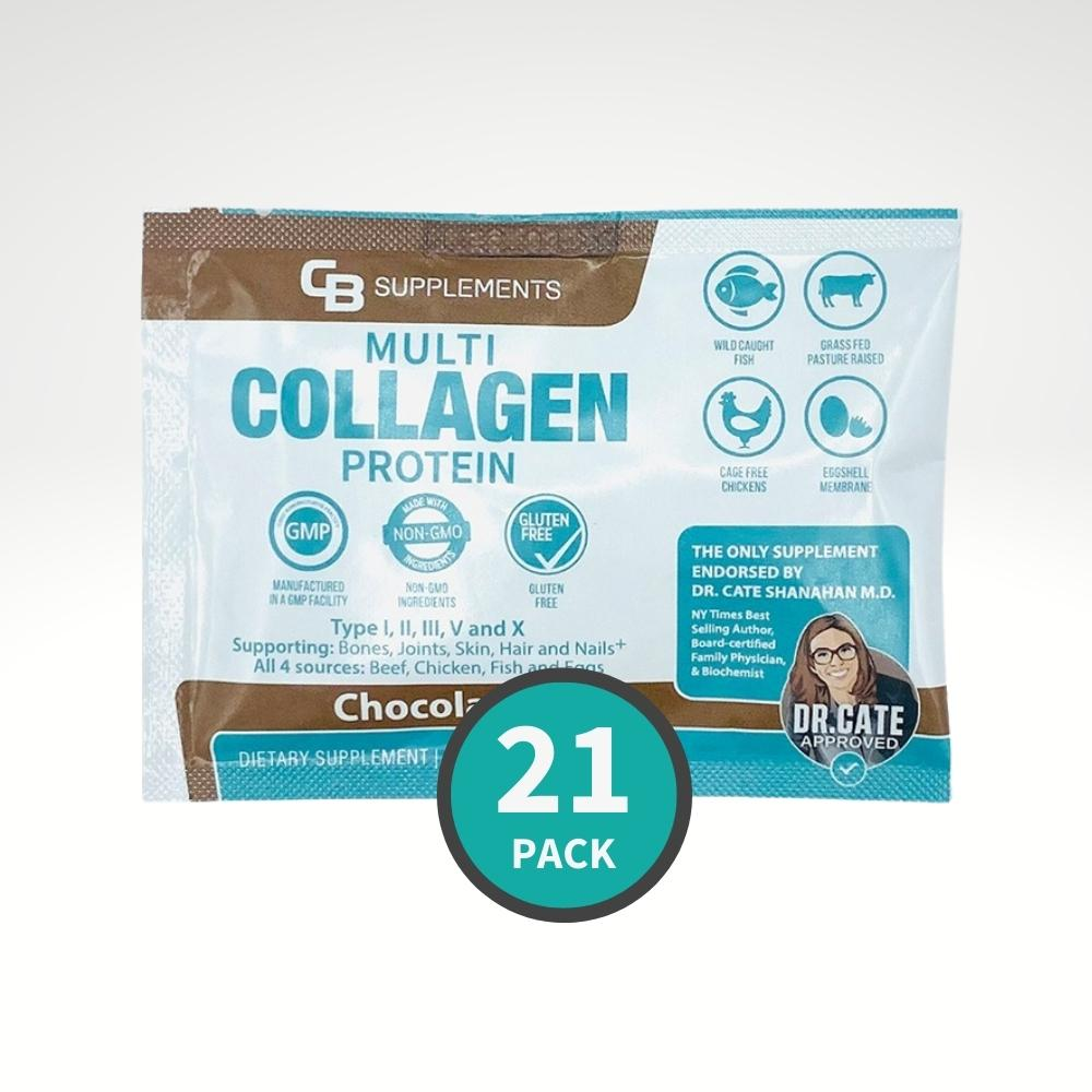 Single Serve Travel Pack Chocolate Multi Collagen - 21 pack