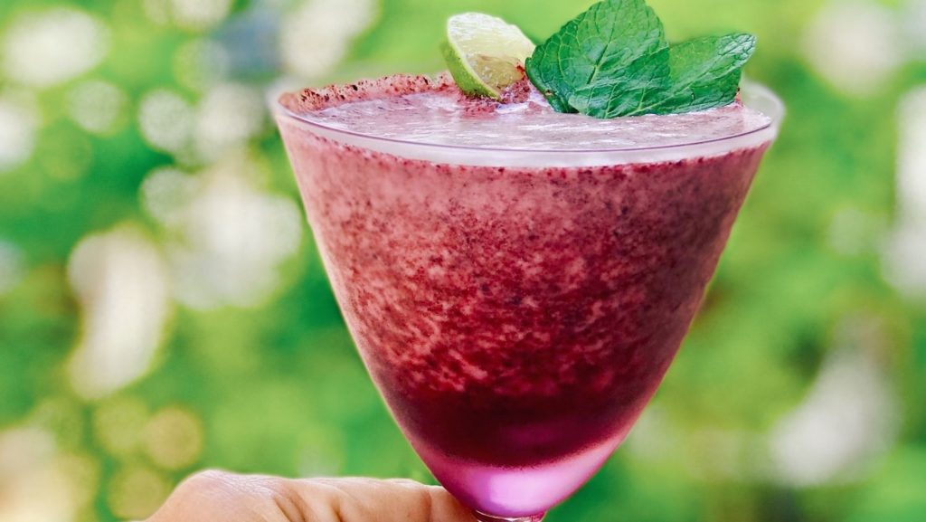 Collagen-Infused Frozen Blueberry Mojito Recipe